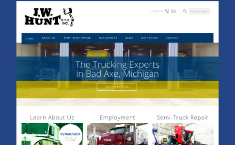 J.W. Hunt Trucking | Web Centre