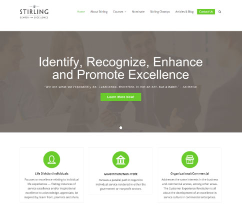The Stirling Center for Excellence | Web Centre