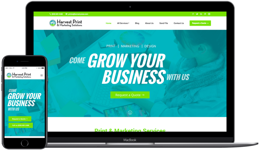 Harvest Print Project - Web Design in Tallahassee, FL