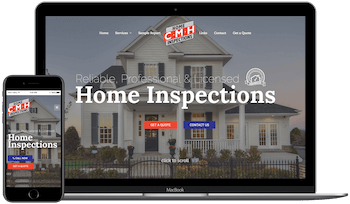 CMH Home Inspections Web Design in Tallahassee Florida Example Image