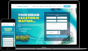 Sunny D's Travel Web Design in Davison Example Image