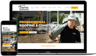 TSpark Construction Web Design in Tallahassee Florida Example Image